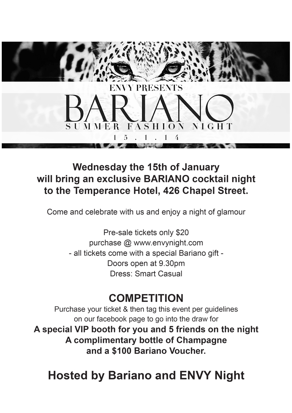 JOIN US FOR A BARIANO COCKTAIL NIGHT!